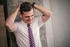 Portrait of stress business man Royalty Free Stock Images