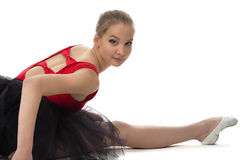 Portrait of stretching ballerina Royalty Free Stock Photography