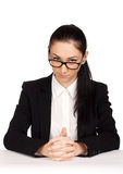 Portrait of strict business woman Stock Photos
