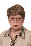 Portrait of strict woman. Portrait of the strict woman Royalty Free Stock Photo