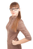 Portrait of a strict woman in glasses Royalty Free Stock Photos