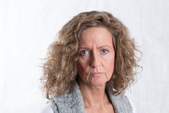 Portrait strong, angry woman Stock Images