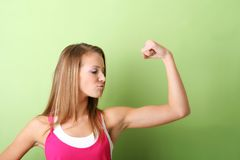 Portrait of a strong woman Stock Photos