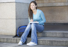 Portrait of a student stock image