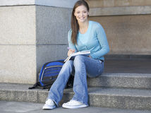Portrait of a student stock images