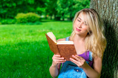 Portrait of a student with a book Stock Images