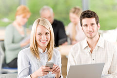 Portrait of student businesspeople in office Royalty Free Stock Images
