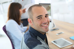 Portrait of student in classroom Royalty Free Stock Image