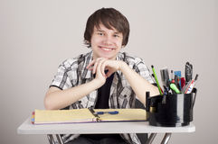 Portrait of the student, college student Stock Images