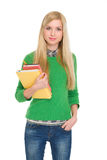 Portrait of student girl with books Royalty Free Stock Photos