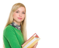 Portrait of student girl with books Royalty Free Stock Photo