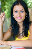 Portrait student girl outdoor Stock Photos