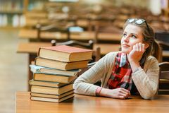 Portrait of Student Girl stock image
