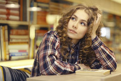 Portrait of  student in library Stock Photography