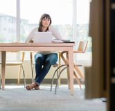 Portrait Of Student Sitting In Library Royalty Free Stock Photos