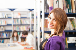 Student taking a book Stock Photo