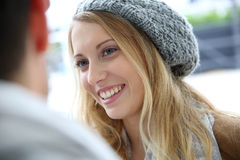 Portrait of student woman smiling Royalty Free Stock Images