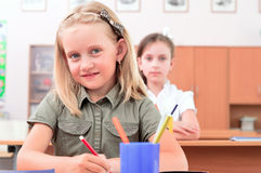 Pupils in classroom Royalty Free Stock Photo