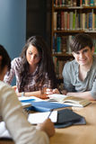 Portrait of students preparing an assignment Royalty Free Stock Photography