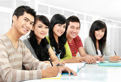 Portrait of students studying Stock Image