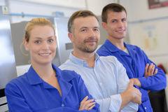 Portrait students and teacher stood in row Royalty Free Stock Image