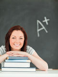 Portrait of a studious young woman Stock Images