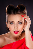 Portrait of Styled Woman Royalty Free Stock Photos
