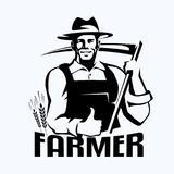 Portrait stylisé d'agriculteur Photographie stock