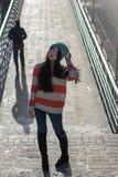 Portrait of stylish Asian girl on the street Stock Photo