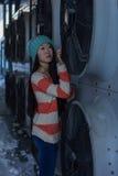 Portrait of stylish Asian girl on the street Stock Image