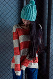 Portrait of stylish Asian girl on the street Royalty Free Stock Image