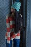 Portrait of stylish Asian girl on the street Stock Photos