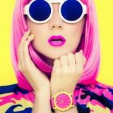 Portrait of stylish bright girl Royalty Free Stock Photo