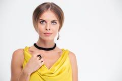Portrait of a stylish cute female model Stock Image