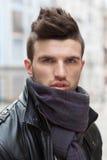 Portrait of stylish guy outdoors Royalty Free Stock Photography