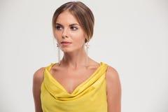 Portrait of a stylish pretty woman Royalty Free Stock Photography