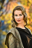 Portrait of a Stylish Pretty Young Woman in Autumn Fashion Stock Image