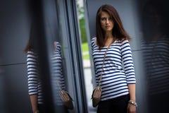 Portrait of stylish woman on the street Stock Image