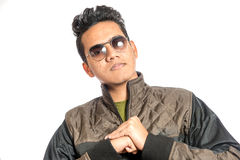 Portrait of stylished man. Low saturation image. Clipping path included Royalty Free Stock Image