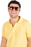 Portrait of stylished young happy man Stock Photo