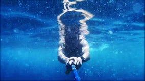 Portrait sub underwater stock footage