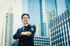 Portrait success businessman. Attractive handsome business man c royalty free stock image