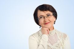 Portrait of success senior woman Royalty Free Stock Photos