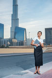 Portrait of a successful Arab women. Businesswoman standing on a Royalty Free Stock Photos