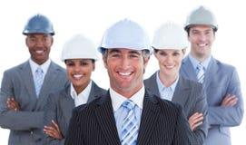 Portrait of successful architect team Stock Photo