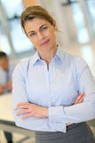 Portrait of successful blond businesswoman Royalty Free Stock Photos