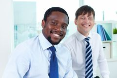 Leader of business team Royalty Free Stock Photo
