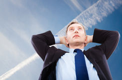 Portrait of businessman who dreams Royalty Free Stock Images