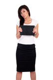 Portrait of successful business woman with laptop. Royalty Free Stock Photography
