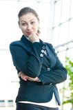 Portrait of successful business woman smiling Royalty Free Stock Images